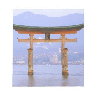 Asia, Japan, Hiroshima. Mivaiima. Torii Gate Notepad