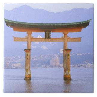 Asia, Japan, Hiroshima. Mivaiima. Torii Gate Tile