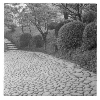 Asia, Japan, Hiroshima. Shukkei, en Garden Tile