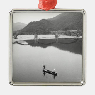 Asia, Japan, Iwakuni. Fishermen and historic 2 Christmas Ornament