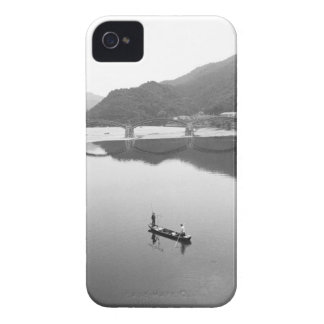 Asia, Japan, Iwakuni. Fishermen and historic 2 iPhone 4 Case-Mate Case