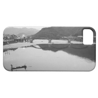 Asia, Japan, Iwakuni. Fishermen and historic iPhone 5 Covers