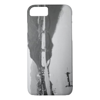 Asia, Japan, Iwakuni. Fishermen and historic iPhone 8/7 Case