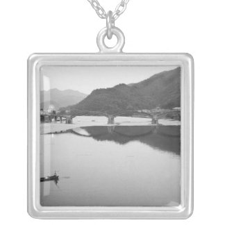 Asia, Japan, Iwakuni. Fishermen and historic Silver Plated Necklace