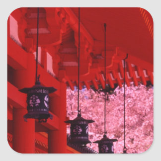 Asia, Japan, Kyoto, Heian shrine in spring. Square Sticker