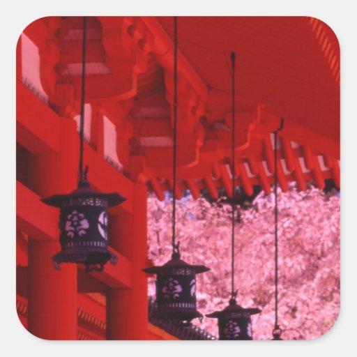 Asia, Japan, Kyoto, Heian shrine in spring. Sticker
