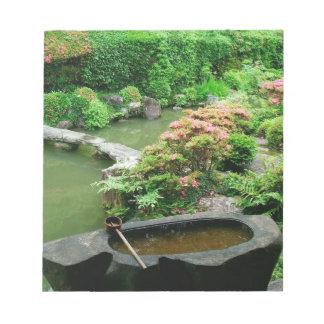 Asia, Japan, Kyoto. Zen Garden Notepad