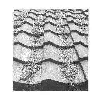 Asia, Japan, Miyajima. Clay roof detail Notepad
