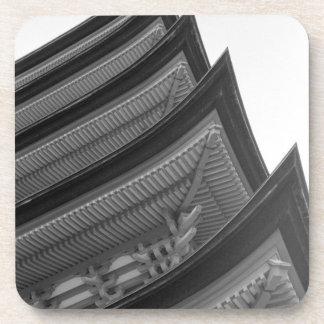 Asia, Japan, Miyajima. Temple detail Coaster