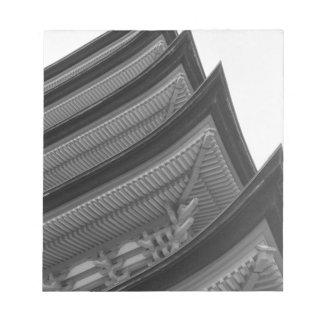 Asia, Japan, Miyajima. Temple detail Notepad