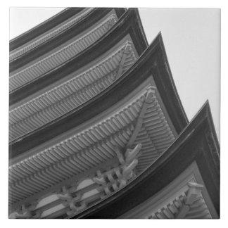 Asia, Japan, Miyajima. Temple detail Tile