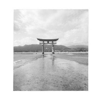 Asia, Japan, Myajima. The Torri Gate Notepad