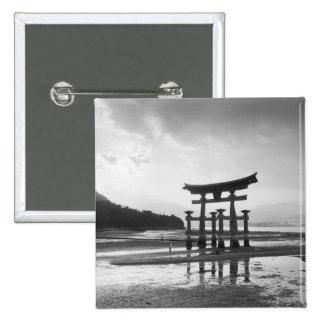 Asia, Japan, Myajima. Torri Gate 15 Cm Square Badge