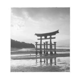Asia, Japan, Myajima. Torri Gate Notepad