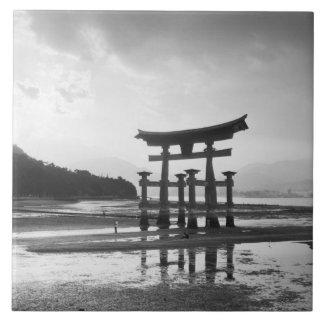 Asia, Japan, Myajima. Torri Gate Tile
