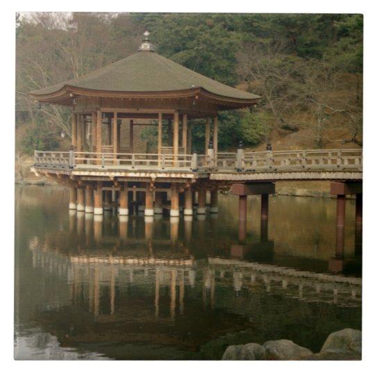 Asia, Japan, Nara, Temple in Nara Large Square Tile