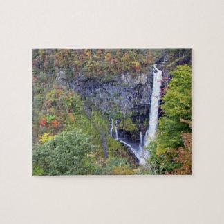Asia, Japan, Nikko. Kegon waterfall of Nikko, a Jigsaw Puzzle