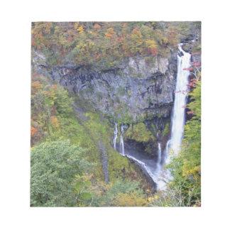 Asia, Japan, Nikko. Kegon waterfall of Nikko, a Notepad