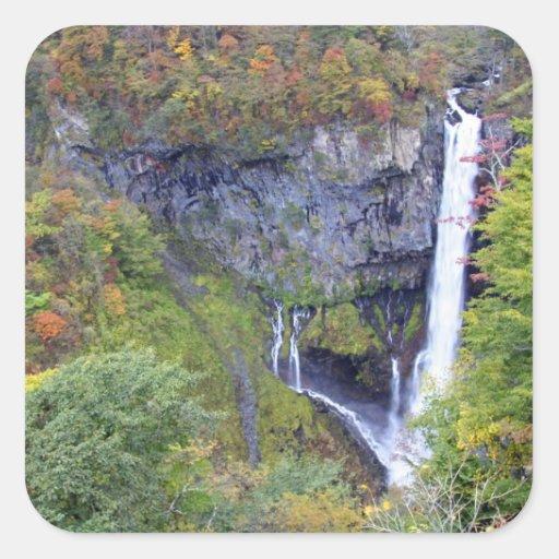 Asia, Japan, Nikko. Kegon waterfall of Nikko, a Stickers