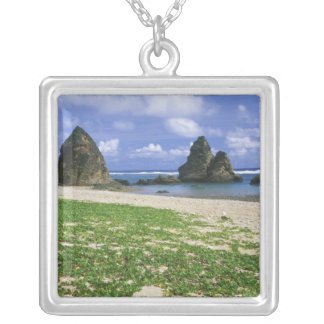 Asia, Japan, Okinawa, Yambaru Coastline, Sea Silver Plated Necklace