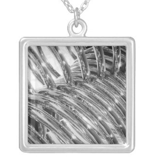 Asia, Japan, Tokyo. Coiled pipe, Tepco Energy Silver Plated Necklace