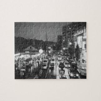 Asia, Japan, Tokyo. Evening, Harajuku Station, Jigsaw Puzzle