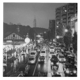 Asia, Japan, Tokyo. Evening, Harajuku Station, Tile