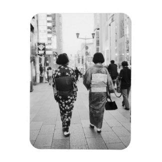 Asia, Japan, Tokyo. Geishas on the Ginza. Rectangular Photo Magnet