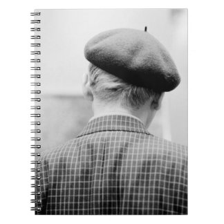 Asia, Japan, Tokyo. Man with Beret, Tokyo Metro Notebook