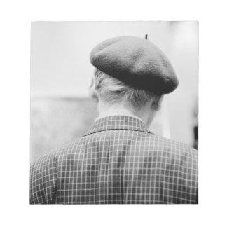Asia, Japan, Tokyo. Man with Beret, Tokyo Metro Notepad