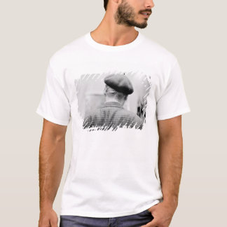 Asia, Japan, Tokyo. Man with Beret, Tokyo Metro T-Shirt