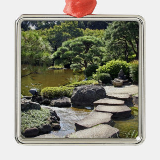 Asia, Japan, Tokyo. The Japanese Garden at the Silver-Colored Square Decoration