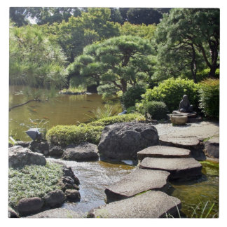 Asia, Japan, Tokyo. The Japanese Garden at the Tile