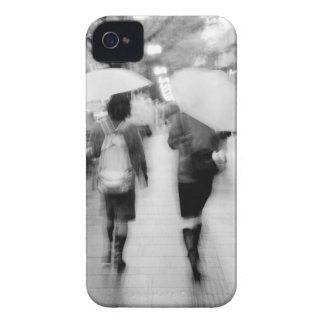 Asia, Japan, Tokyo. Young women and umbrellas. iPhone 4 Cover