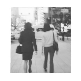Asia, Japan, Tokyo. Young women on the Ginza. Notepad