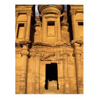 Asia, Jordan, Petra. El Deir, the Monastery. Postcard