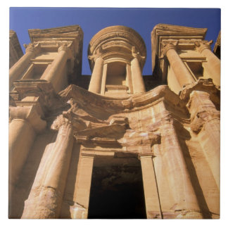 Asia, Jordan, Petra. El Deir, The Monastery. Tile