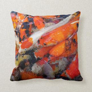 Asia Koi Fish Throw Pillow