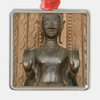 Asia, Laos, Vientiane, Bronze Buddha at Hawn Christmas Ornament