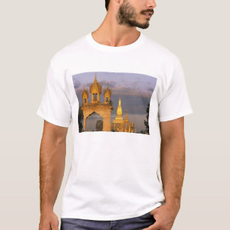 Asia, Laos, Vientiane. That Luang Temple. T-Shirt