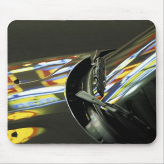 Asia, Malaysia, Melaka. Neon reflections in car Mouse Mat