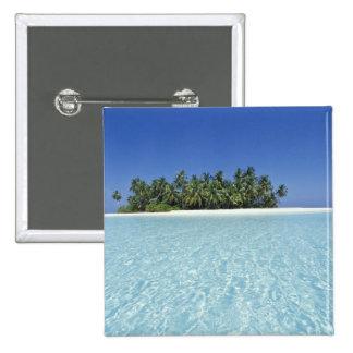 ASIA, Maldives, Ari Atoll, Uninhabited 15 Cm Square Badge