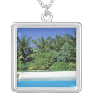Asia, Maldives. North Male Atoll Silver Plated Necklace