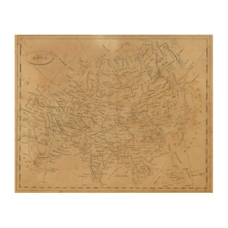 Asia Map 3 Wood Print