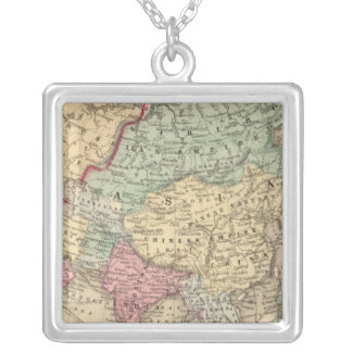 Asia Map by Mitchell Silver Plated Necklace