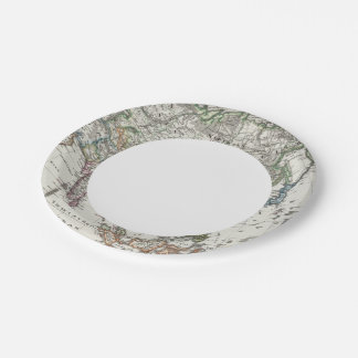 Asia Map by Stieler Paper Plate