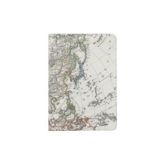 Asia Map by Stieler Passport Holder