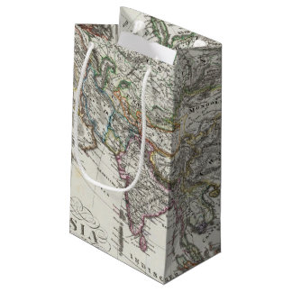 Asia Map by Stieler Small Gift Bag