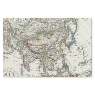 Asia Map by Stieler Tissue Paper