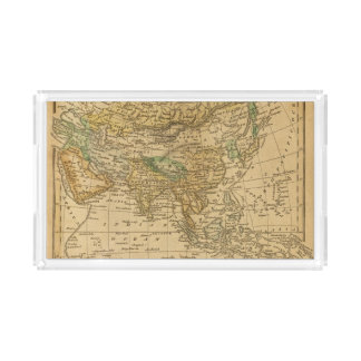 Asia  Map by Worcester Acrylic Tray